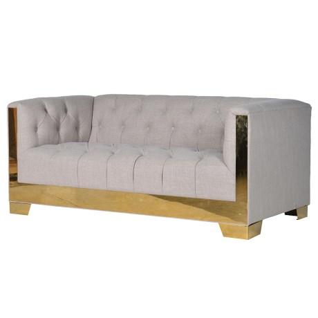 Linen 2 Seater Sofa