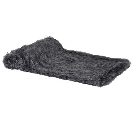 Black Furry Throw