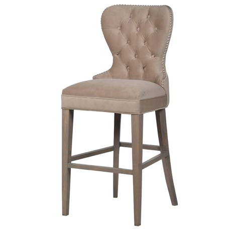 Beige Bar Stool With Studs
