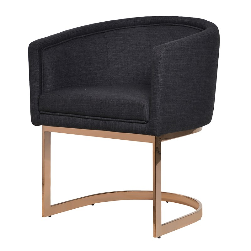 Rose Gold Frame Dining Chair