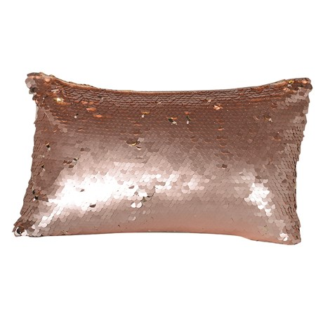 Rose Gold Sequin Mermaid Cushion