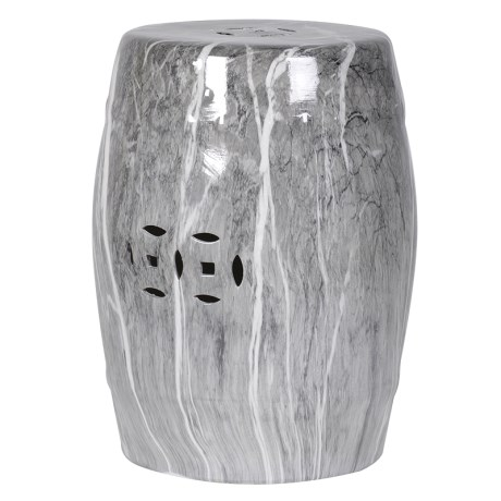 Grey Marble Effect Stool