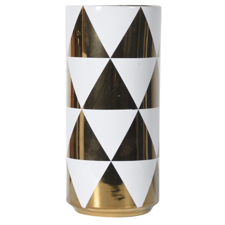 Large White & Gold Vase