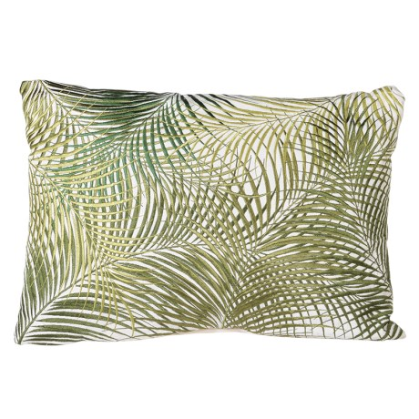 Embroidered Leaf Rectangular Cushion