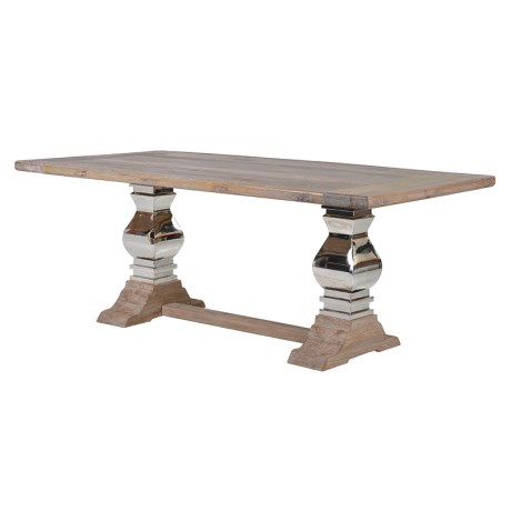 Steel And Wood Table