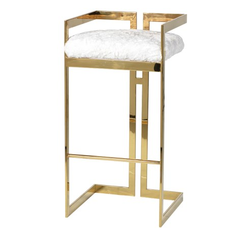 Gold Furry Barstool