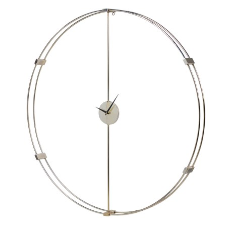 Large Silver Wall Clock