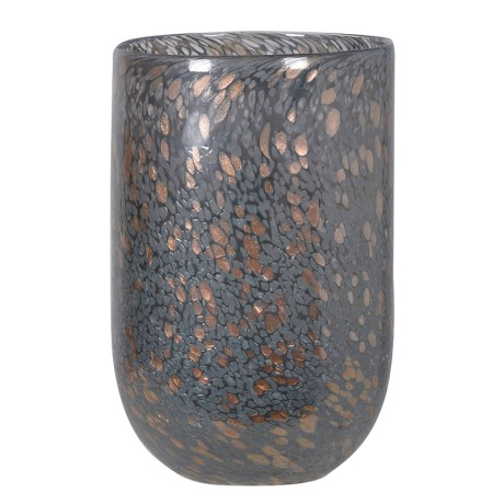 Grey And Gold Glass Vase