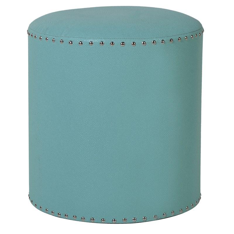 Studded Turquoise Footstool