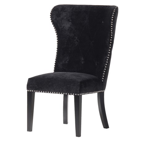 Black Dining Chair With Knocker
