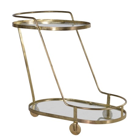 Gold Drinks Trolley