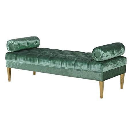 Emerald Green Velvet Chaise