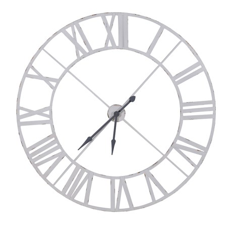 White Metal  Clock