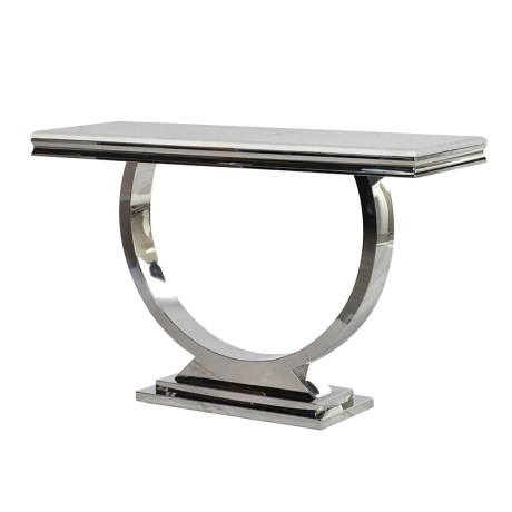 Steel/Marble Console Table