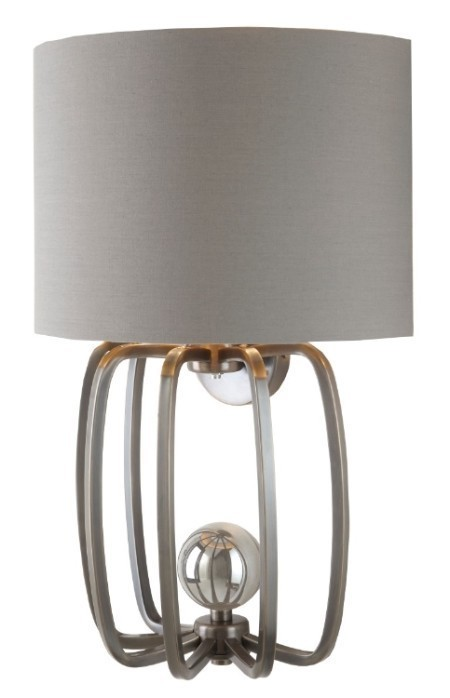 Grey Ball Wall Light