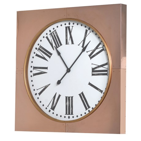 Copper Square Wall Clock