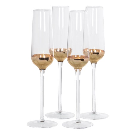 Copper Champagne Glasses X4