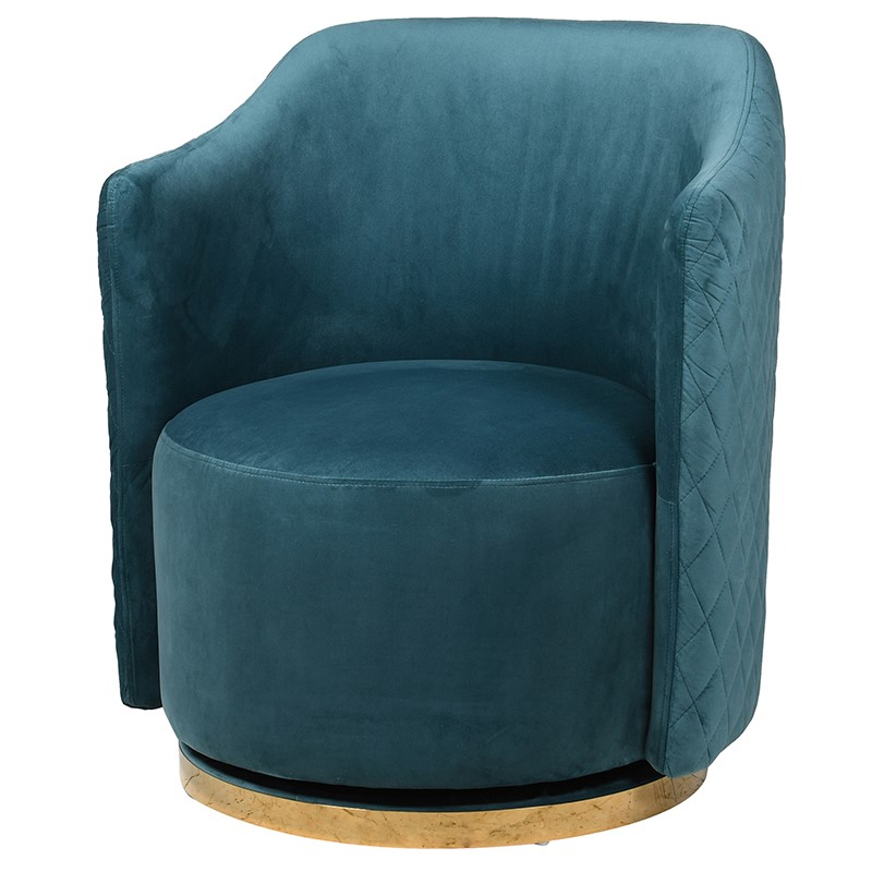 Swivel Teal Chair