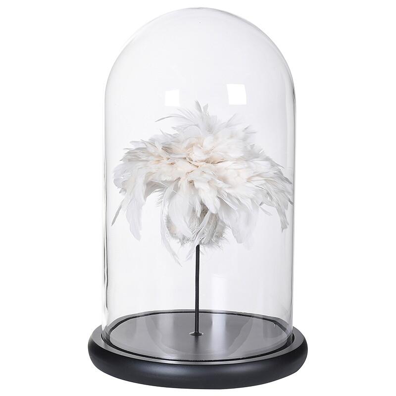 Feather Glass Globe