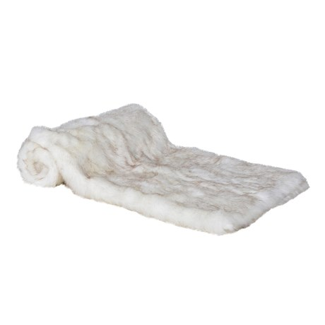 Deluxe White Faux Fur Throw