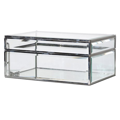 Large Glass Jewellery Box
