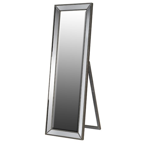 Floor Standing Pewter Cheval Mirror