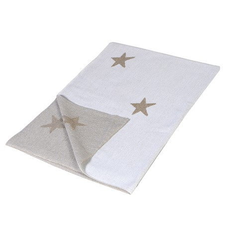 Knitted Star Throw