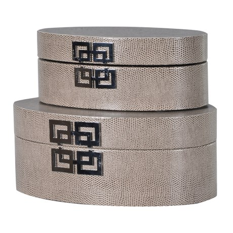 Set Of 2 Round Boxes