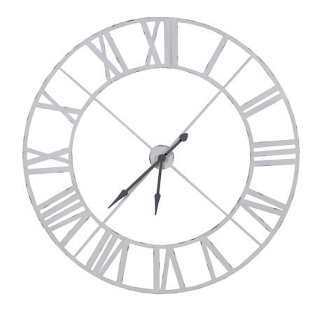 White Metal  Clock