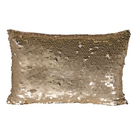 Gold Sequin Mermaid Cushion