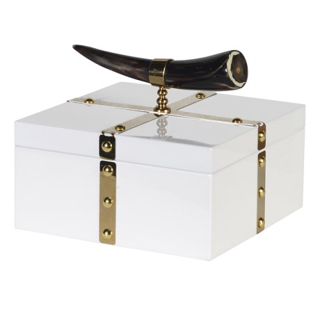 Horn White And Gold Box