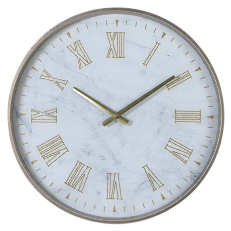 White Amp Gold Wall Clock Elaine Cunningham