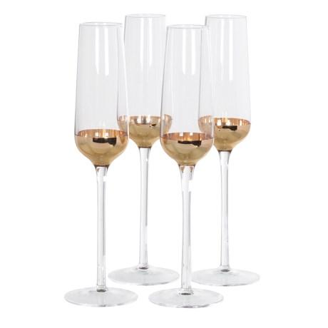 Copper Champagne Glasses X4