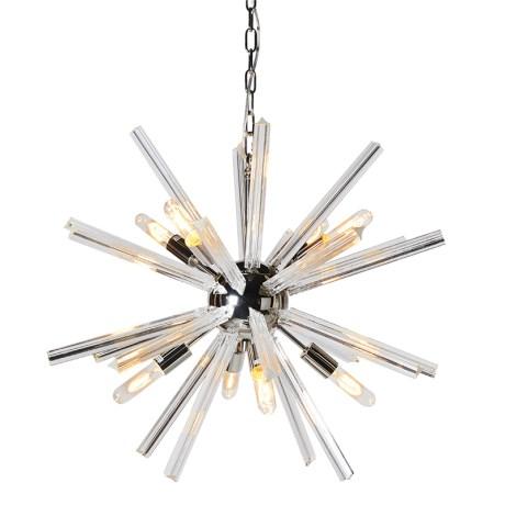 Silver Starburst Ceiling Light