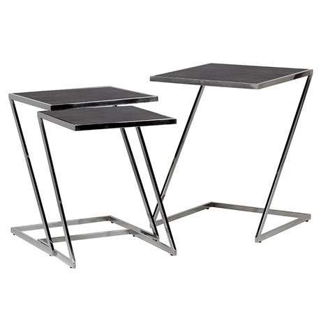 Glass Top Steel Tables