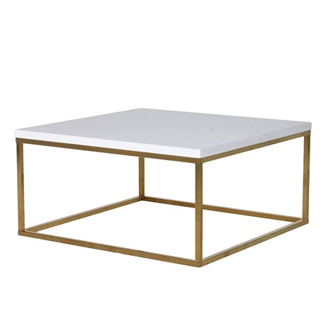 Gloss White Gold Frame Coffee Table