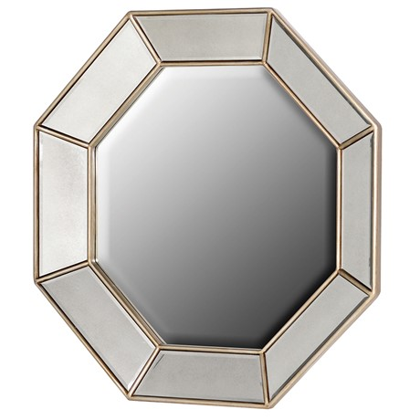 Gold Octagonal Mirror